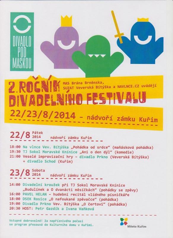 Plakát festivalu Divadlo pod MASkou